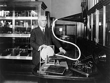Emile Berliner avec son gramophone